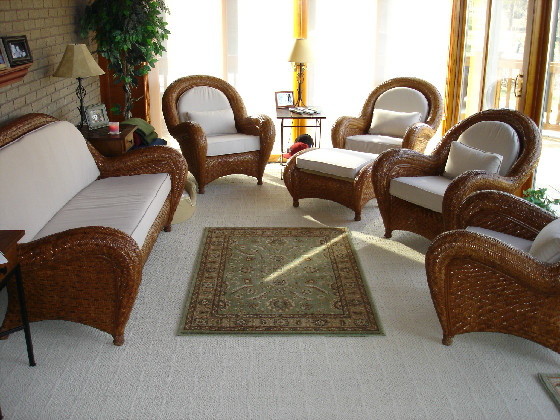 wicker furniture cushions - Give That Tired Wicker Furniture New Life. » Susan's Designs