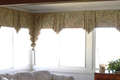 flat valance with jabots