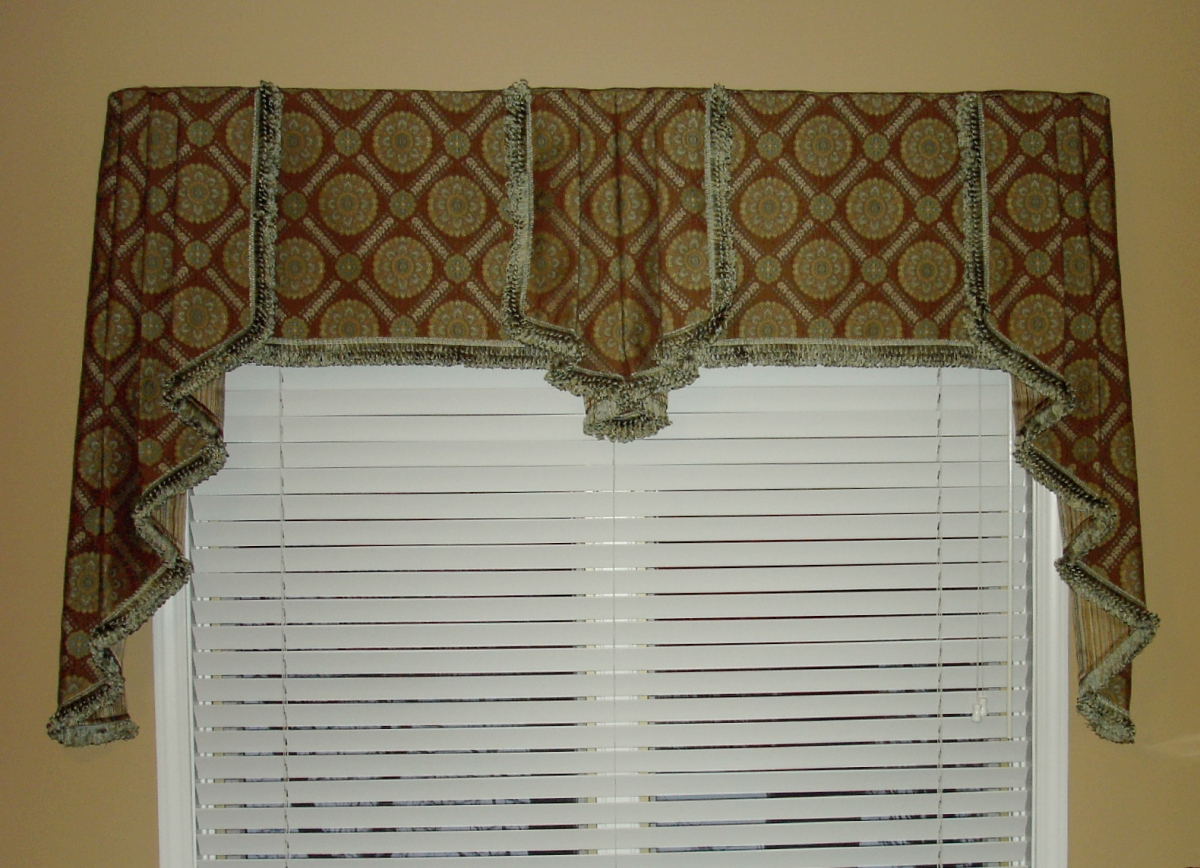 Roman Shade Valance Over Blinds