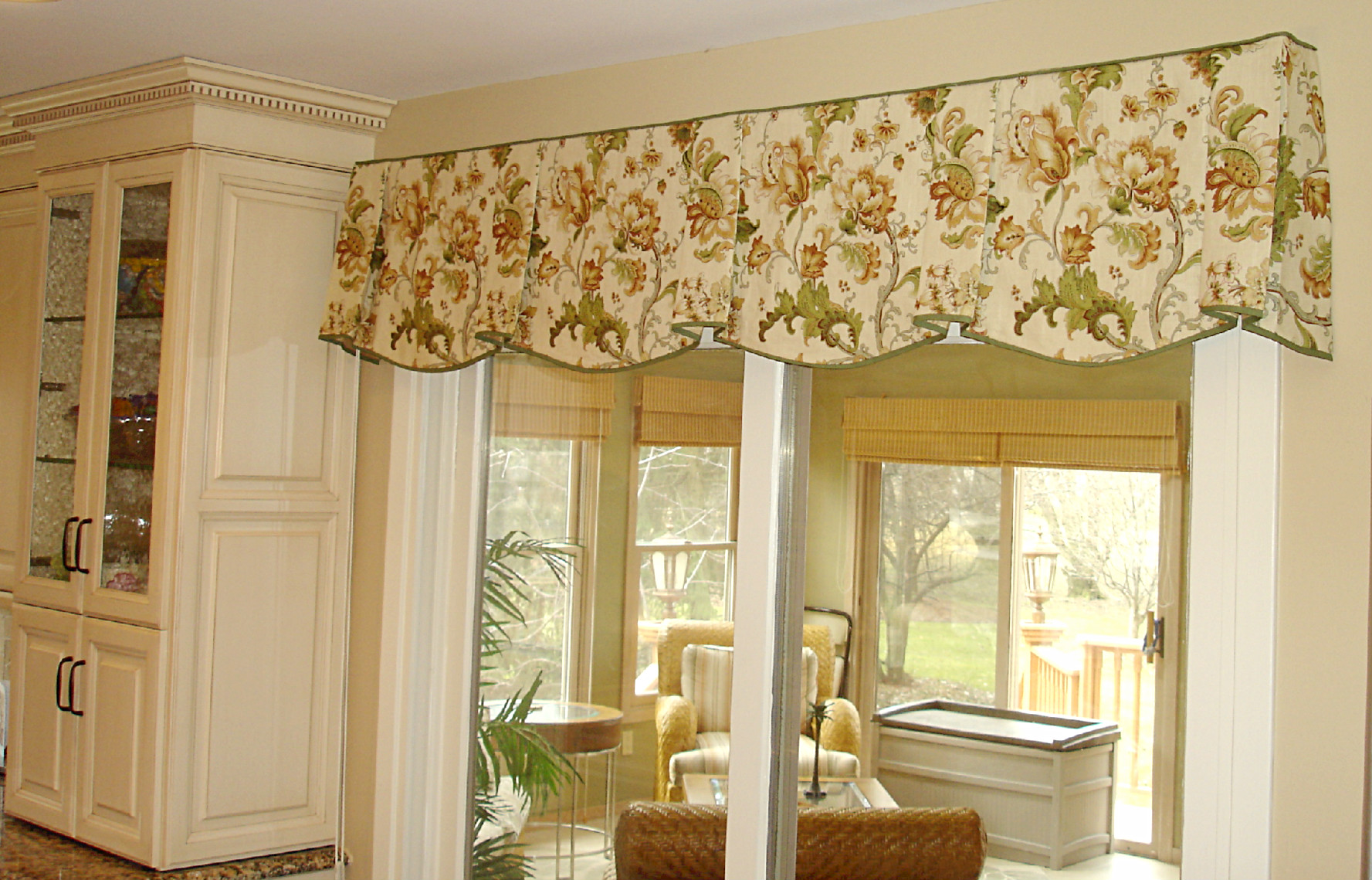 Curtains Ideas horizontal striped curtains : Corner kitchen window. » Susan's Designs