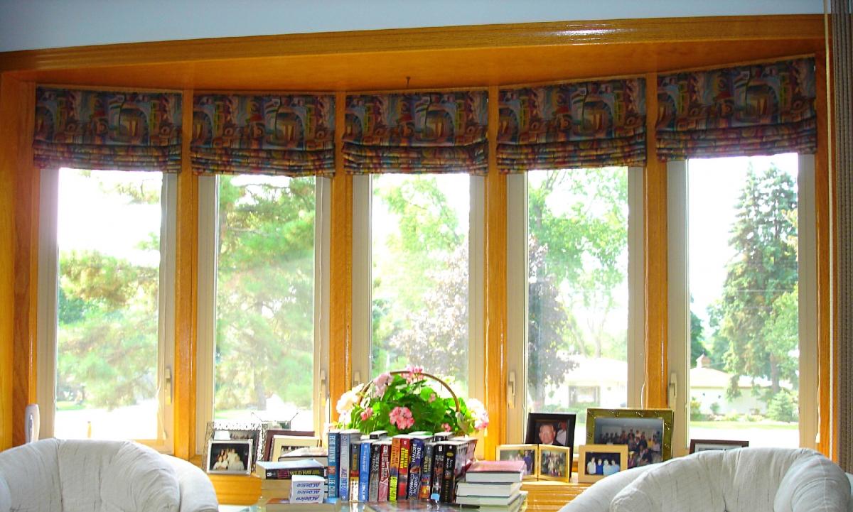Roman Shades In A Bay Window 187 Susan S Designs