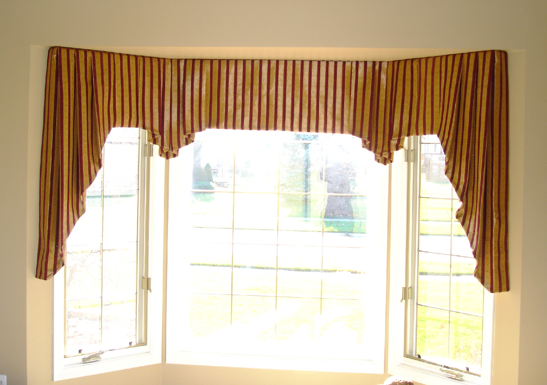 Valances for windows 2017 grasscloth wallpaper Window curtains design ideas
