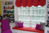 balloon valance,window seat,slip cover