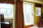 pleated valance and drapery panels