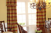 attached valance drapery panels
