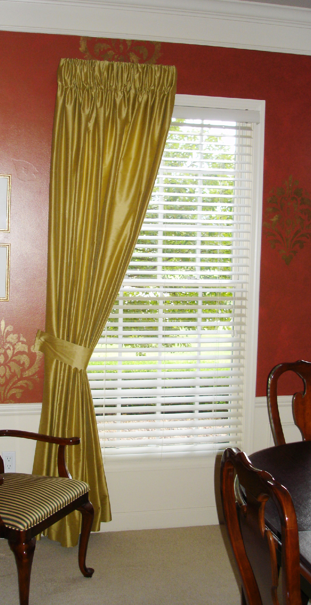 Golden Drapery Panels 187 Susan S Designs
