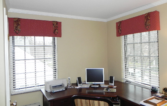Exceptionnel Cornice Board. A Cornice Is A Great Window Treatment For A Home Office.