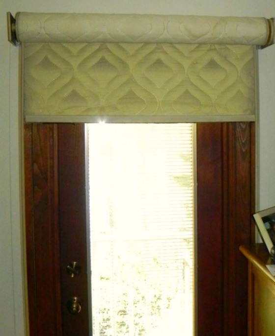 Custom cornices creatively conceal. » Susan's Designs : quilted roller shades - Adamdwight.com