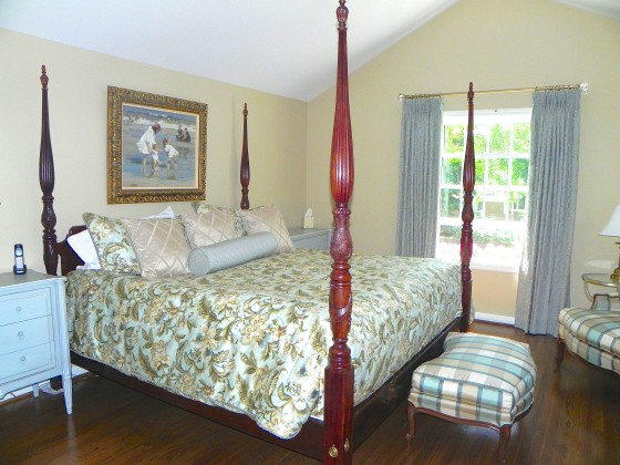 drapery panels and bedding